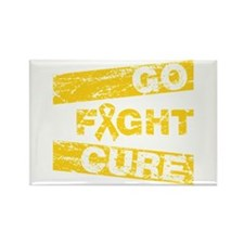 Childhood Cancer Go Fight Cure Rectangle Magnet