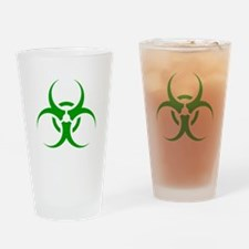 Green Biohazard Symbol Drinking Glass