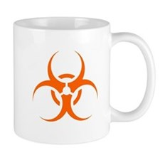 Orange Biohazard Symbol Mugs