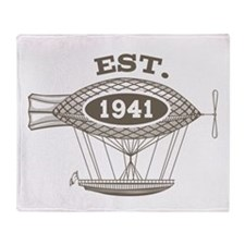 Vintage Birthday Est 1941 Throw Blanket