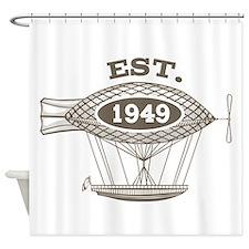 Vintage Birthday Est 1949 Shower Curtain