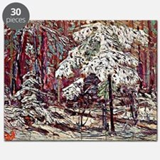 Snow in the Woods Puzzle