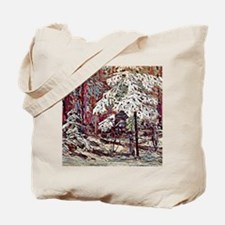 Snow in the Woods Tote Bag