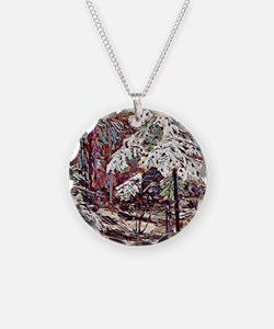 Snow in the Woods Necklace