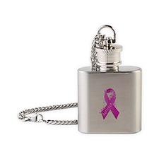 Breast Cancer Survivor Flask Necklace