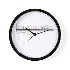 """Nice Matters"" Wall Clock"