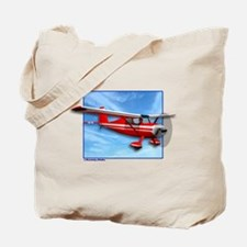 Single Engine Red Airplane Tote Bag