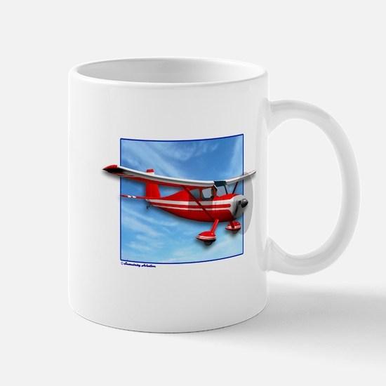 Single Engine Red Airplane Mug