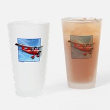 Single Engine Red Airplane Drinking Glass