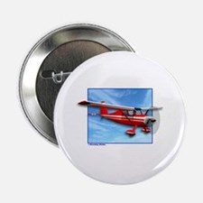 """Single Engine Red Airplane 2.25"""" Button (10 pack)"""