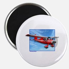 Single Engine Red Airplane Magnet