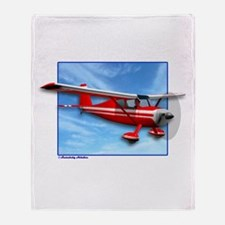 Single Engine Red Airplane Throw Blanket