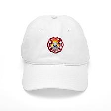Maltese Cross and Flaming Skull Hat
