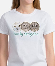 OWLS art, family Strigidae Tee