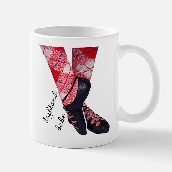 Highland babe tartan legs Mugs