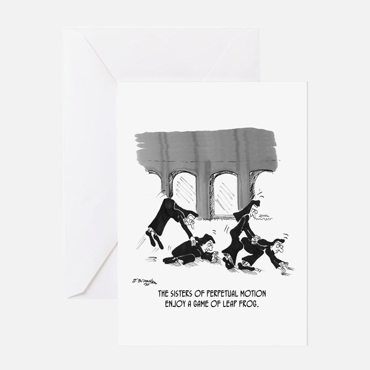 Sisters of Perpetual Motion Greeting Card