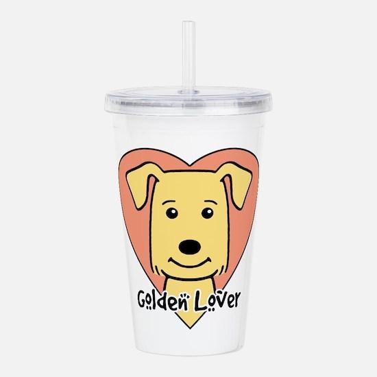 Golden Retriever Lover Acrylic Double-wall Tumbler