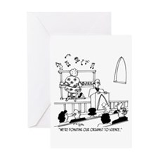 Donating Organist to Science Greeting Card