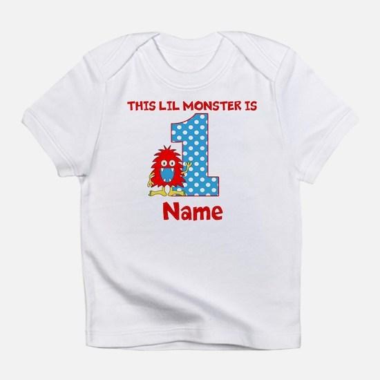 1st Birthday Monster Red Infant T-Shirt