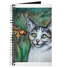 Tabby Cat eyes Monarch Butterfly Journal