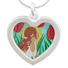 SummerSprite2 Silver Heart Necklace