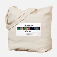 I Read in Alphabetical Order Tote Bag