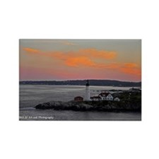 Lighthouse and Sunset Rectangle Magnet