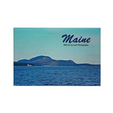 Maine Lighthouse and Mountain Rectangle Magnet