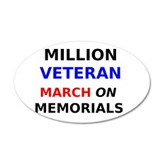 Million Veteran March on the Memorials Wall Decal