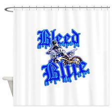 Bleed Blue 3 Shower Curtain