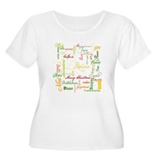 christmas words collage Plus Size T-Shirt