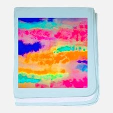 Bright Colorful abstract baby blanket