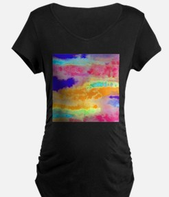Bright Colorful abstract Maternity T-Shirt