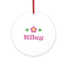 "Pink Daisy - ""Kiley"" Ornament (Round)"