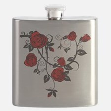 Red Rose Flask
