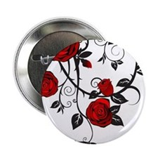 "Red Rose 2.25"" Button"