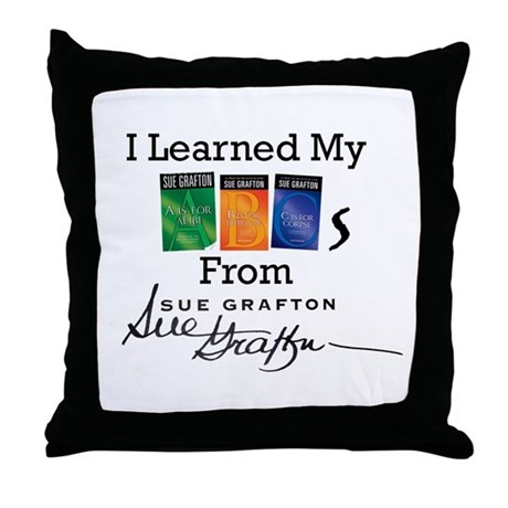 I Learned My ABCs Throw Pillow