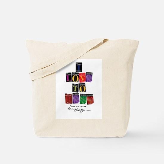 I Love To Read Sue Grafton Tote Bag