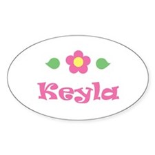 "Pink Daisy - ""Keyla"" Oval Decal"