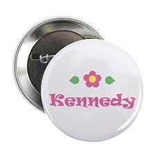 "Pink Daisy - ""Kennedy"" Button"