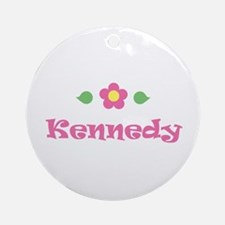 """Pink Daisy - """"Kennedy"""" Ornament (Round)"""