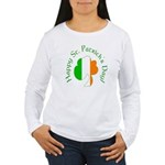 Irish Flag Greetings Women's Long Sleeve T-Shirt