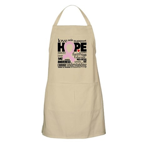 Breast Cancer Words Apron