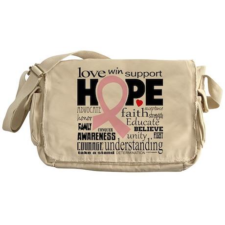 Breast Cancer Words Messenger Bag