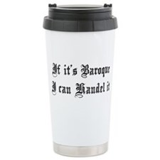 Baroque Pun Travel Mug