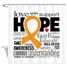 Leukemia Words Shower Curtain
