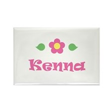"""Pink Daisy - """"Kenna"""" Rectangle Magnet"""