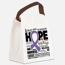 Alzheimer's Words Canvas Lunch Bag