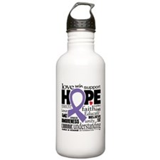 Alzheimer's Words Sports Water Bottle