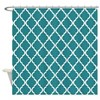Teal Moroccan Lattice Shower Curtain